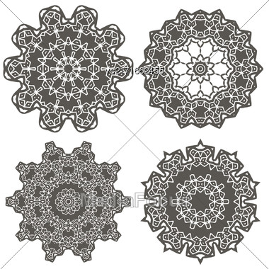 Ornamental Line Pattern. Endless Texture. Oriental Geometric Ornament Stock Photo