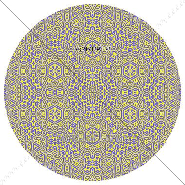 Ornamental Round Pattern Isolated On White Background Stock Photo