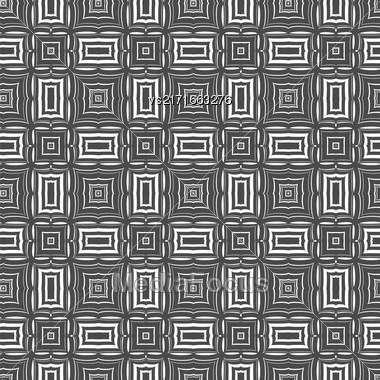 Ornamental Seamless Line Pattern. Endless Texture. Oriental Geometric Ornament Stock Photo