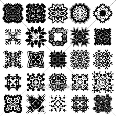 Ornamental Seamless Line Pattern. Endless Texture. Oriental Geometric Ornament Stock Photo