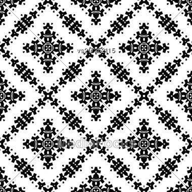 Ornamental Seamless Pattern. Endless Texture. Oriental Geometric Ornament Stock Photo