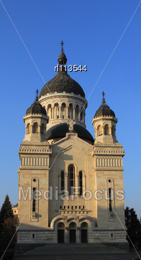 Orthodox Cathedral In Cluj Napoca City, Romania Stock Photo