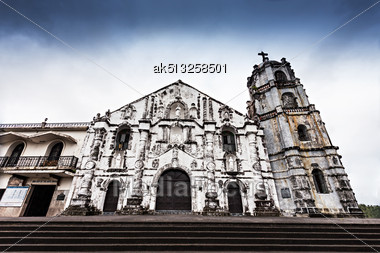 Our Lady Of The Gate Parish (Daraga Church) In Legazpi, Philippines Stock Photo