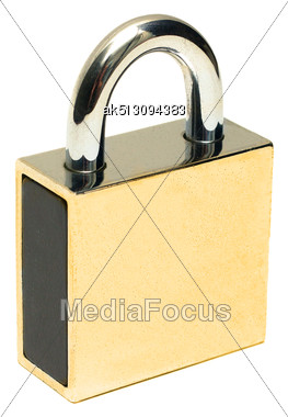 Padlock Isolated On White Background Stock Photo