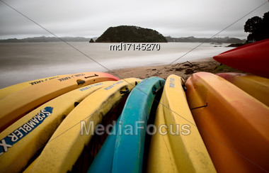 Paihia Beach New Zealand Bay Of Islands Tourism Stock Photo