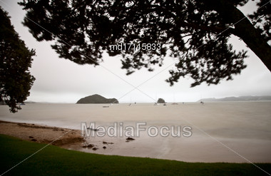 Paihia Beach New Zealand Bay Of Islands Tourism Stock Photo
