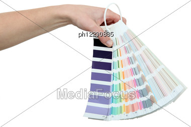 Paint Colour Samples Stock Photo