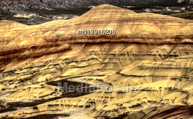 Painted Hills Oregon Colorful View Red And Brown Stock Photo