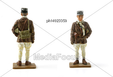 Painted Toy Soldier Stock Photo
