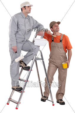 Pair Of Painters Stock Photo