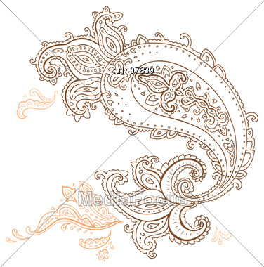 Paisley. Ethnic Ornament. Vector Illustration Isolated Stock Photo