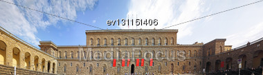 Palazzo Pitti One Of The Most Famous Palaces In Florence. Italy Stock Photo