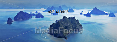 Panorama Of The Beauty Islands, View From The Plane Stock Photo