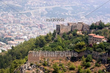 Panorama Of The City Of Alanija Looked Through From An Ancient Fortress In Turkey Stock Photo