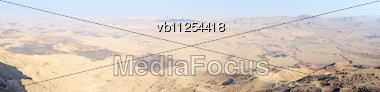 Panorama Makhtesh Ramon, A Top View, Panorama From 9 Photos Stock Photo
