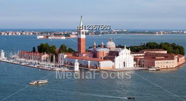 Panoramic View Of San Giorgio Island, Venice, Italy Stock Photo