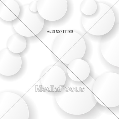 Paper Circle Background. Circles With Drop Shadows Stock Photo