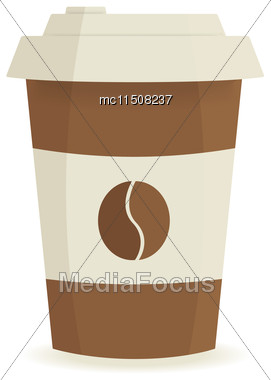 Paper Coffee Cup On A White Background. Vector Illustration Stock Photo