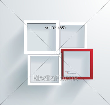 Paper Frames. Abstract 3D Geometrical Design Stock Photo