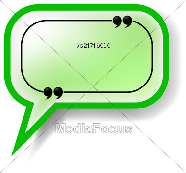 Paper Green Speech Bubble Isolated On White Background Stock Photo