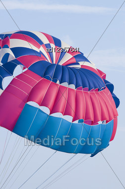 Parachute In The Sky Stock Photo
