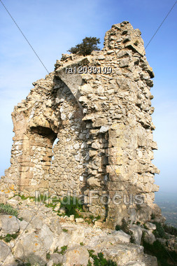 Part Of Kantara Castle In Northern Cyprus.The Origins Of The Castle Go Back To The 10th Century. Stock Photo