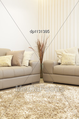 Part Of Luxury Modern Living Room Stock Photo
