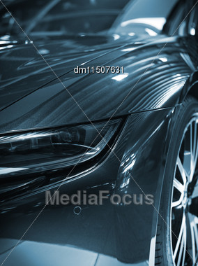 Part Of Sports Car Model Stock Photo