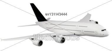 Passenger Airliner, Model Airplane Stock Photo