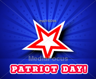 Patriot Day September 11. Vector Illustration With Star Stock Photo