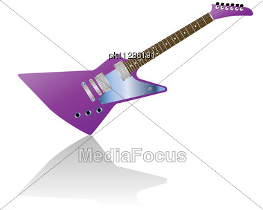 Pattern Of Color Electric Guitar Stock Photo