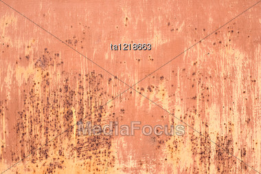 Pattern Of Old Metal Wall, Grunge Background Stock Photo