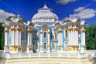 Pavilion Hermitage In Tsarskoe Selo. St. Petersburg, Russia Stock Photo