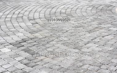 Paving Stones Texture A Round Stock Photo