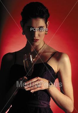 champagne celebrations adult Stock Photo