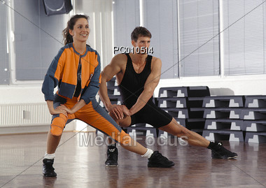 self-defense exercising weight Stock Photo