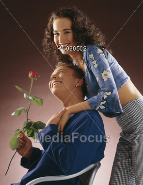 gift affection happiness Stock Photo