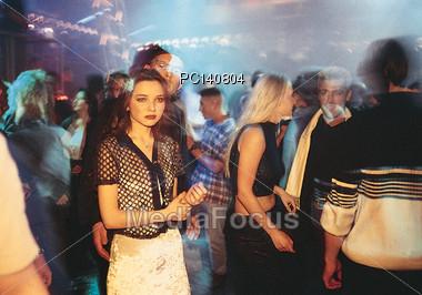 crowds nightclub disco Stock Photo