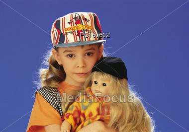 girls pre-school poses Stock Photo