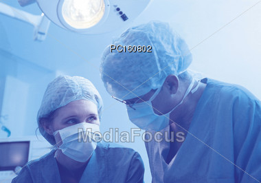 professionals mask physician Stock Photo