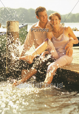outdoors people couples Stock Photo