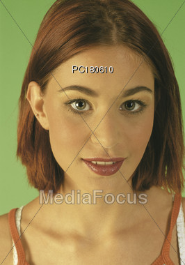 expression face hairstyles Stock Photo
