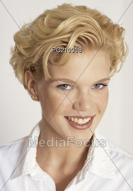 faces beautiful happiness Stock Photo