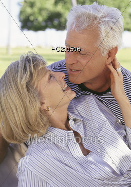 affection kissing poses Stock Photo