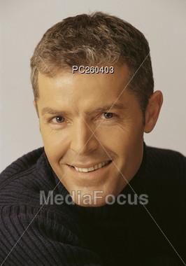 faces white hair-style Stock Photo