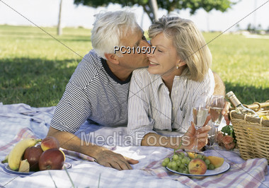 seniors active elderly Stock Photo