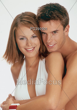 expression affection hugging Stock Photo
