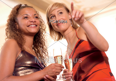 ethnic champagne diverse Stock Photo