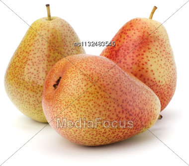 Pear Fruits Isolated On White Background Stock Photo