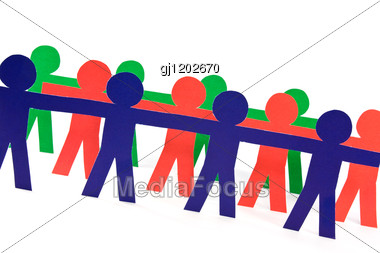 People Group Doing Teamwork In Their Business Stock Photo